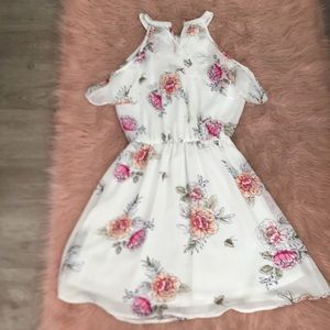 White flower dress